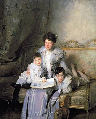 Mrs. Knowles and Her Children, 1902 | Sargent| Painting Reproduction