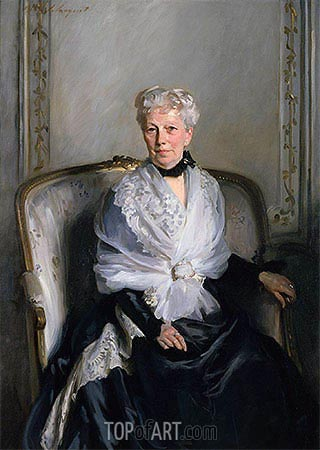 Mrs Edward Goetz, undated | Sargent| Painting Reproduction