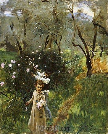 Sargent | Gathering Flowers at Twilight, undated