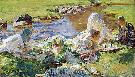 Dolce far Niente, c.1907 | Sargent| Painting Reproduction