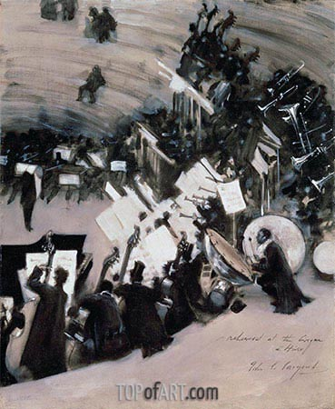 Rehearsal of the Pasdeloup Orchestra at the Cirque d'Hiver, c.1879/80 | Sargent| Painting Reproduction