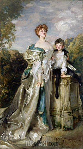 Lady Warwick and her Son, 1905 | Sargent | Painting Reproduction