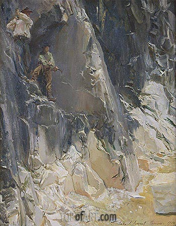 Marble Quarries at Carrara, 1913 | Sargent| Painting Reproduction