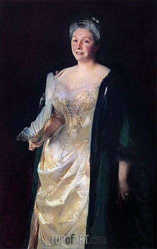 Mrs. William Playfair, 1887 | Sargent | Gemälde Reproduktion