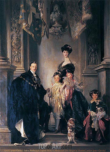 The 9th Duke and Duchess of Marlborough and their Two Sons, 1905 | Sargent | Gemälde Reproduktion