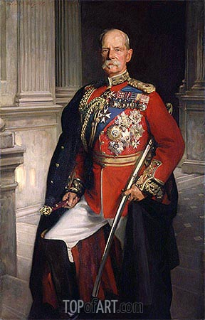 Frederick Sleigh Roberts, 1st Earl Roberts, 1906 | Sargent| Painting Reproduction