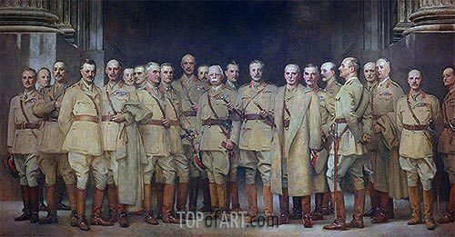 General Officers of World War I, 1922 | Sargent| Gemälde Reproduktion