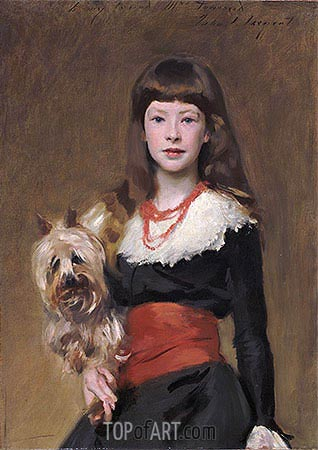 Miss Beatrice Townsend, 1882 | Sargent| Painting Reproduction