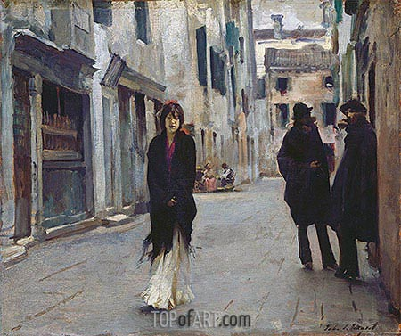 Street in Venice, 1882 | Sargent| Painting Reproduction