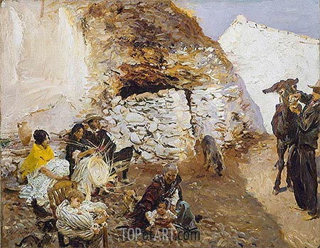 Gypsy Encampment, c.1912/13 | Sargent | Painting Reproduction