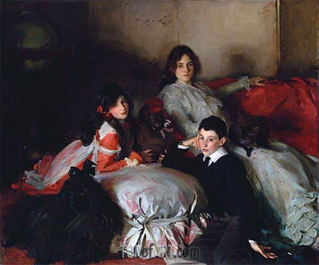 Essie, Ruby and Ferdinand, Children of Asher Wertheimer, 1902 | Sargent | Painting Reproduction