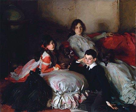 Essie, Ruby and Ferdinand, Children of Asher Wertheimer, 1902 | Sargent | Gemälde Reproduktion