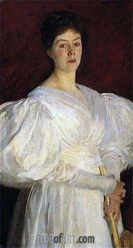 Mrs Frederick Barnard, 1885 | Sargent | Painting Reproduction