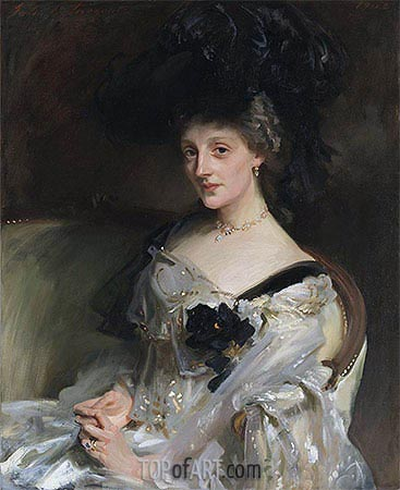 Mrs Philip Leslie Agnew, 1902 | Sargent| Painting Reproduction
