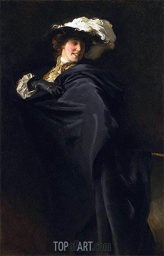 Portrait of Ena Wertheimer: A Vele Gonfie, 1905 | Sargent | Gemälde Reproduktion