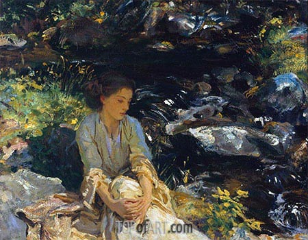 The Black Brook, c.1908 | Sargent | Painting Reproduction
