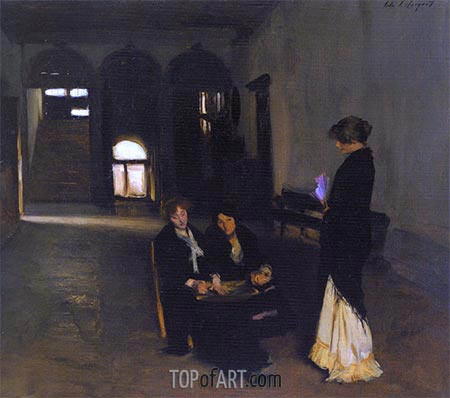 Venetian Bead Stringers, c.1880/82 | Sargent | Painting Reproduction