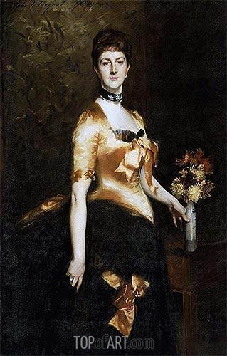 Sargent | Edith, Lady Playfair (Edith Russell), 1884