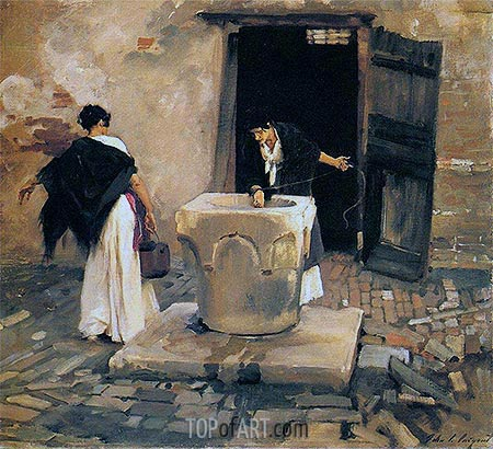 Venetian Water Carriers, c.1880/82 | Sargent| Painting Reproduction