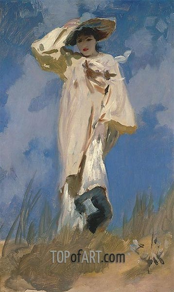 Judith Gautier (A Gust of Wind), 1883 | Sargent | Painting Reproduction
