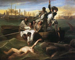 Watson and the Shark, 1778 von John Singleton Copley | Gemälde-Reproduktion