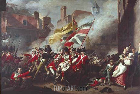 The Death of Major Peirson, 6 January 1781, 1783 | John Singleton Copley | Painting Reproduction