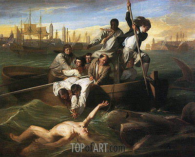 Watson and the Shark, 1778 | John Singleton Copley | Gemälde Reproduktion