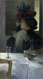 In the Cafe, 1898 von John White Alexander | Gemälde-Reproduktion