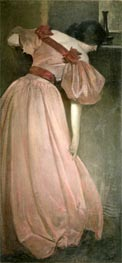 Portrait Study in Pink (The Pink Gown), 1896 von John White Alexander | Gemälde-Reproduktion