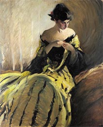 Study in Black and Green, c.1906 von John White Alexander | Gemälde-Reproduktion