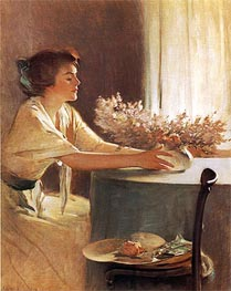 A Meadow Flower, 1912 by John White Alexander | Painting Reproduction