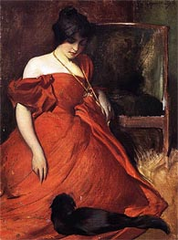 Black and Red, 1896 von John White Alexander | Gemälde-Reproduktion