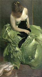 The Green Dress, c.1890/99 von John White Alexander | Gemälde-Reproduktion
