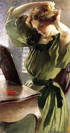 Young Woman Arranging Her Hair, c.1890/95  by John White Alexander | Painting Reproduction