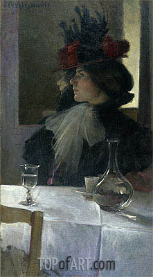 In the Cafe, 1898 | John White Alexander | Painting Reproduction