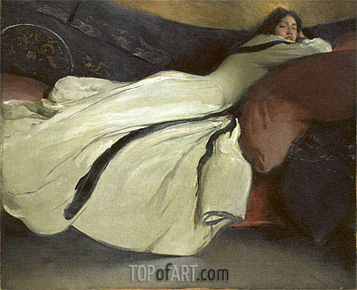 John White Alexander | Repose, 1895
