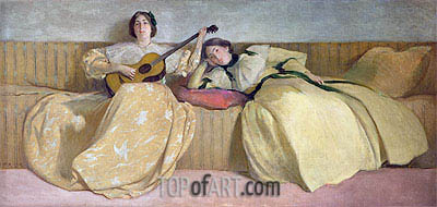 Panel for Music Room, 1894 | John White Alexander | Gemälde Reproduktion