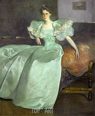 Miss Helen Manice, 1895 | John White Alexander | Painting Reproduction