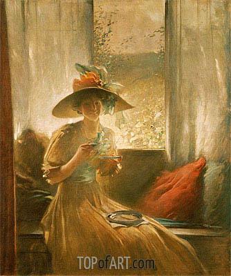 John White Alexander | The Gossip, 1912