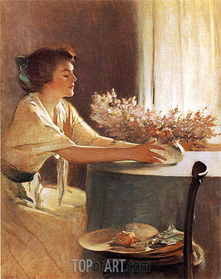 John White Alexander | A Meadow Flower, 1912