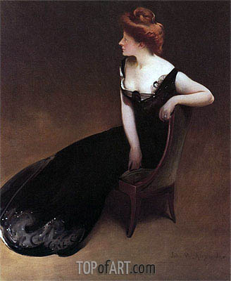 John White Alexander | Portrait of Mrs. V (Mrs. Herman Duryea), c.1900