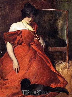 John White Alexander | Black and Red, 1896