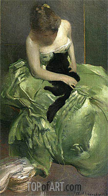 John White Alexander | The Green Dress, c.1890/99
