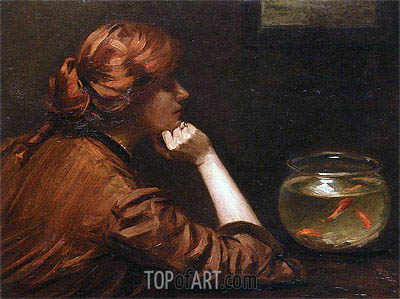 John White Alexander | An Idle Moment, c.1885