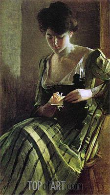 John White Alexander | A Rose, c.1900