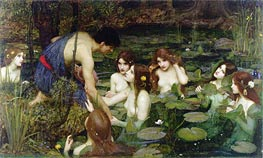 Hylas and the Nymphs, 1896 von Waterhouse | Gemälde-Reproduktion