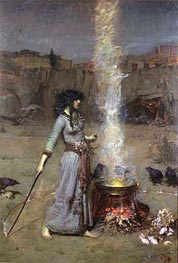The Magic Circle, 1886 by Waterhouse | Painting Reproduction