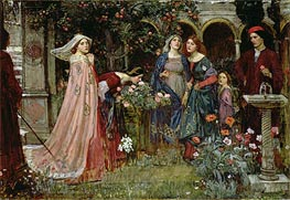The Enchanted Garden | Waterhouse | Painting Reproduction