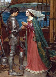 Tristan and Isolde with the Potion | Waterhouse | Painting Reproduction