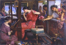 Penelope and the Suitors | Waterhouse | Painting Reproduction